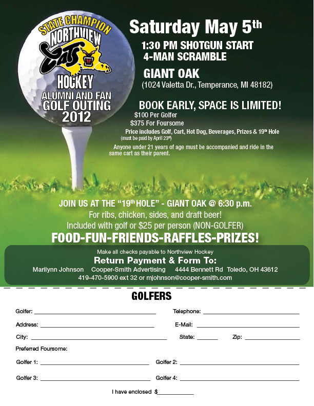 Golf Outing Brochure Template Selol Ink